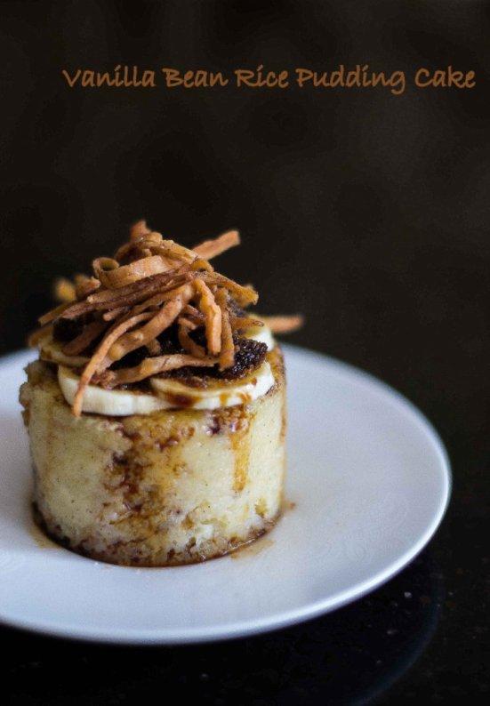 Vanilla Bean Rice Pudding Cake