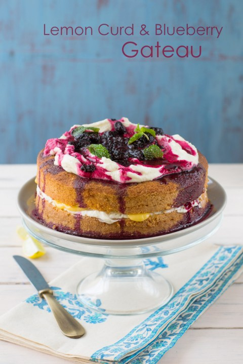 Lemon Curd & Blueberry Gateau 4
