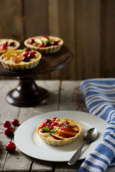 Nectarine & Cherry Almond Tarts 1