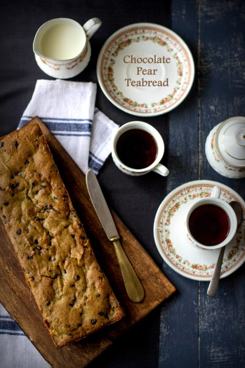 Chocolate Pear Teabread
