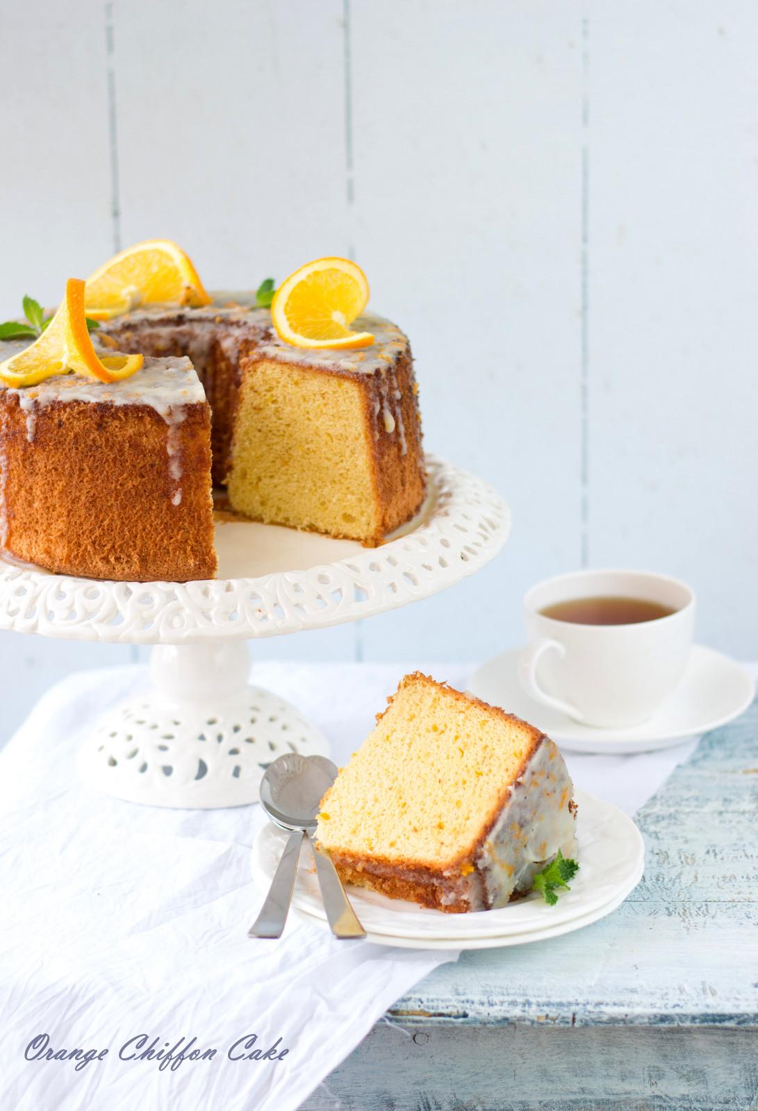 Orange Cake With Ice Cream