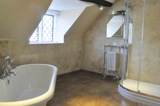 Bathroom at the White Swan Hotel in Henley
