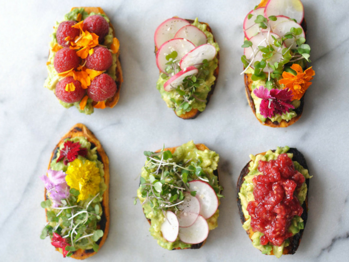 Avocado Sweet Potato Toast by Shiny Happy Bright