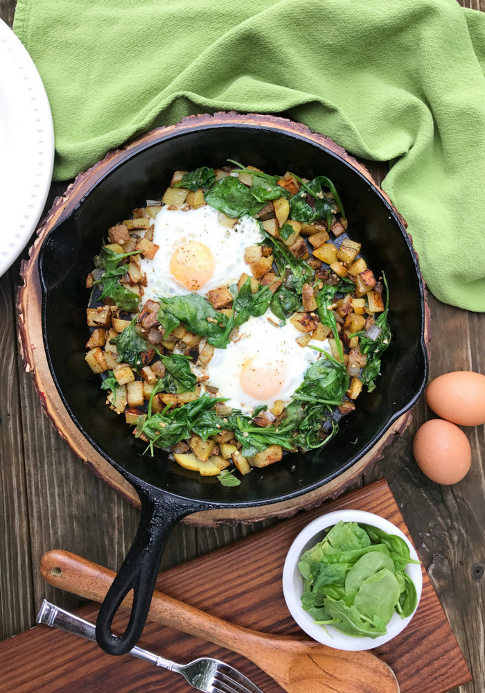 Spinach Vertical Breakfast Hash by The Whole Cook VERTICAL FEATURE