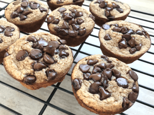 Chocolate Chip Banana Oat Muffins FEATURE