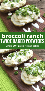 Broccoli Ranch Twice Baked Potatoes by The Whole Cook