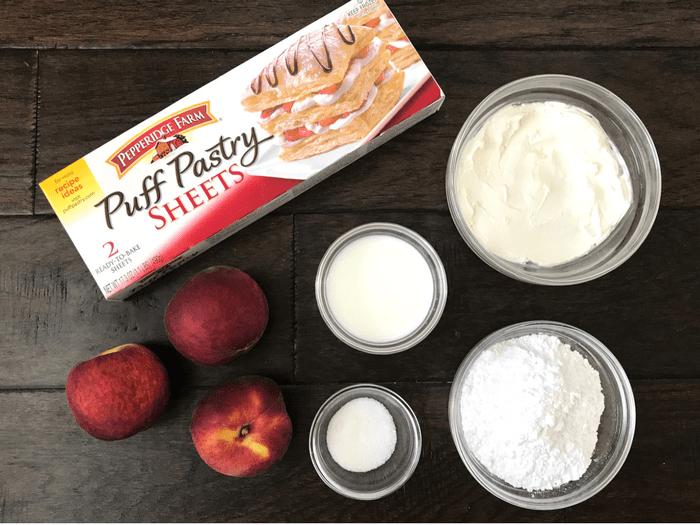 Peach Cream Cheese Tarts INGREDIENTS