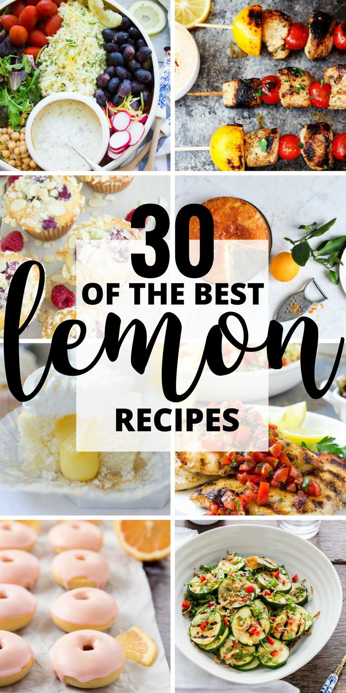 30 of the Best Lemon Recipes PINTEREST