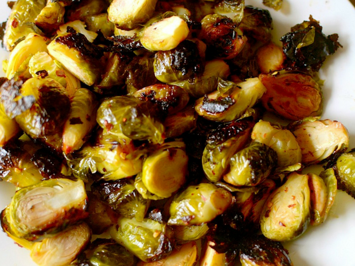 Chili Lime Brussels Sprouts by Athletic Avocado