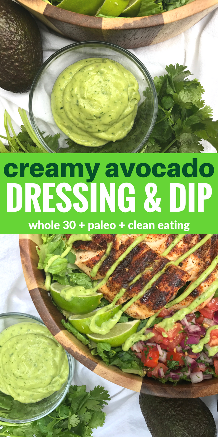 Creamy Avocado Dressing & Dip by The Whole Cook PINTEREST