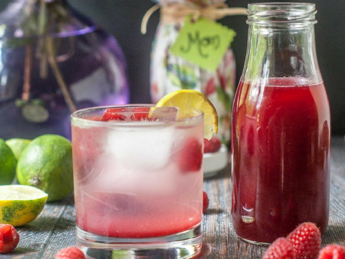 Mother's Day Raspberry Lime Shrub Drink by My Life Cookbook