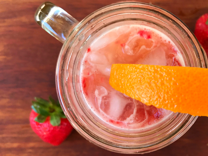 Strawberry Orange Fizz