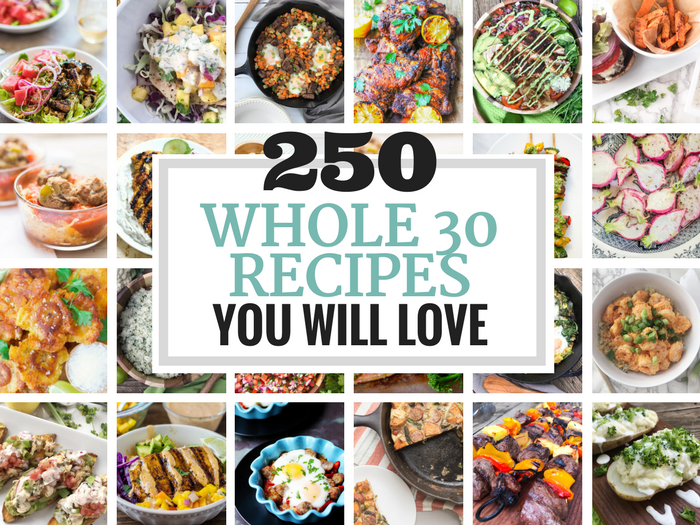 250 Whole30 Recipes You Will Love via The Whole Cook HORIZONTAL FEATURE
