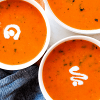 Dairy Free Tomato Basil Soup by The Whole Cook vertical