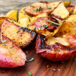 Simply Roasted Apples & Potatoes