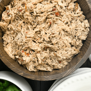 Slow Cooker Italian Pulled Chicken