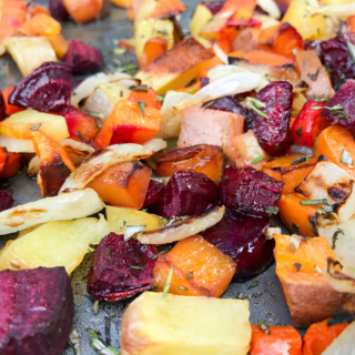 Roasted Rosemary Root Vegetables