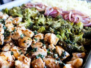 Sheet Pan Balsamic Basil Chicken & Veggies by The Whole Cook horizontal