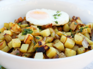 Skillet Breakfast Potatoes by The Whole Cook HORIZONTAL FEATURE up close