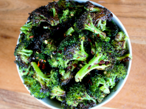Spicy Roasted Broccoli by The Whole Cook in bowl
