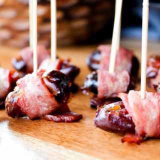 Turkey Bacon Wrapped Dates