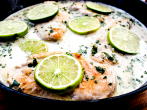 Coconut Lime Chicken by The Whole Cook side