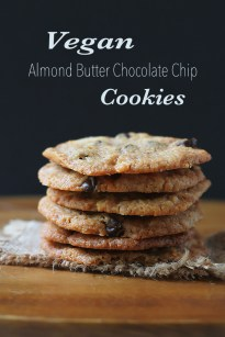 Almond Butter Chocolate Chip Cookies - The Whole Serving