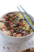 Vegan Teriyaki Tofu Stir Fry, better than any delivery or take-out. The spicy, sweet and bold with flavor teriyaki sauce will have you tossing out all your store bought sauce.