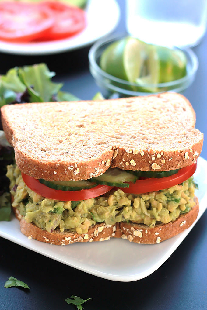 Incredibly delicious, this Chickpea Jalapeño Salad is bold with flavor and sure to satisfy. Serve it in a sandwich or as a topping on a bed of greens.