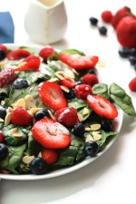 This Three Berry Salad with Poppyseed Dressing is bursting with flavor from not one, not two, but three different berries. It may become one of your summer favorites.
