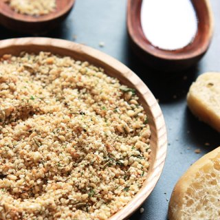 A delicious, aromatic blend of nuts, seeds and spices. Perfect for snacking or cooking. I served my Dukkah recipe with my Homemade Herb Bread as a bread dip.