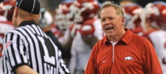 bobby petrino complaining to official arkansas razorbacks Attention Big Ten Football Fans: Remove Bobby Petrino from Your Christmas Card List