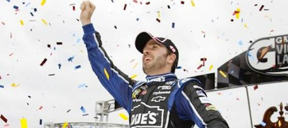 jimmie johnson celebrates his nascar chase victory NASCAR Power Rankings: Jimmie Johnson Expands Lead with Win