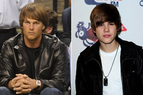 tom brady justin bieber hair Tom Bradys New Hairdo: Part Flock of Seagulls, Part Theres Something About Mary and All