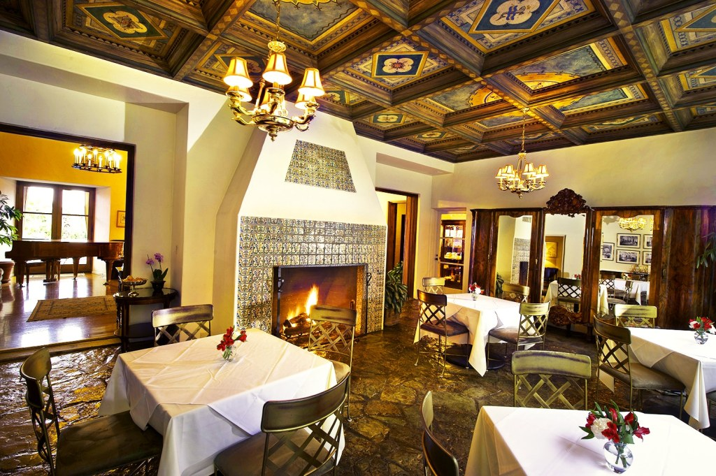 The Dining Room with Fireplace
