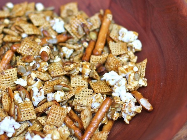 Toffee Chex and Popcorn Party Mix