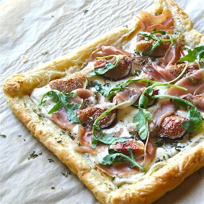 Fig, Ricotta and Honey Tart