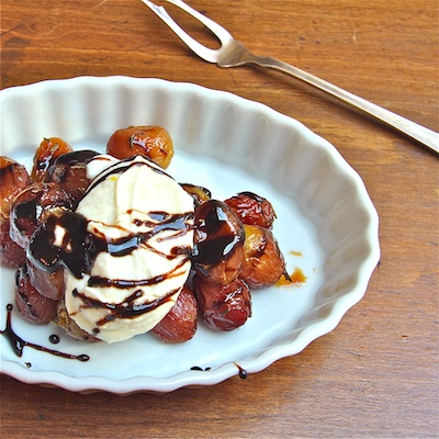 Balsamic Glazed Roasted Grapes with Lemony Ricotta: The Wimpy Vegetarian