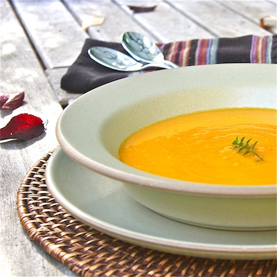 Cider-Spiced Sweet Potato Soup 400: The Wimpy Vegetarian