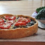 Kale and Cauliflower Tart in Cheddar Crust : The Wimpy Vegetarian