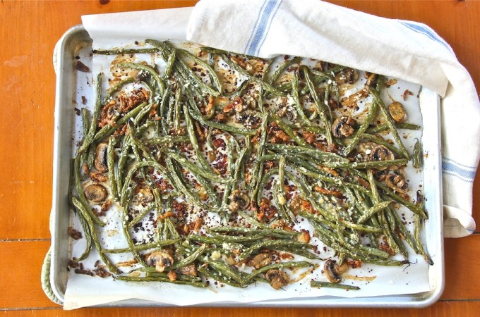 healthy, vegan, vegetarian makeover of green bean casserole