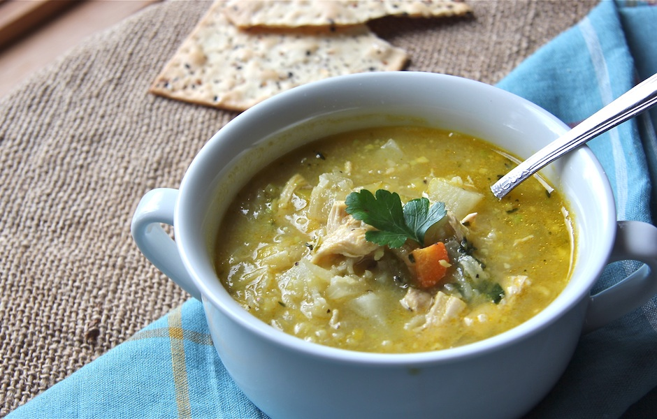 cooking for a crowd, kid-friendly, comfort food, vegetable, chicken and rice peasant soup