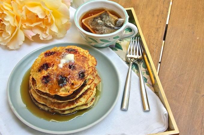 Blackberry Cornbread Pancakes