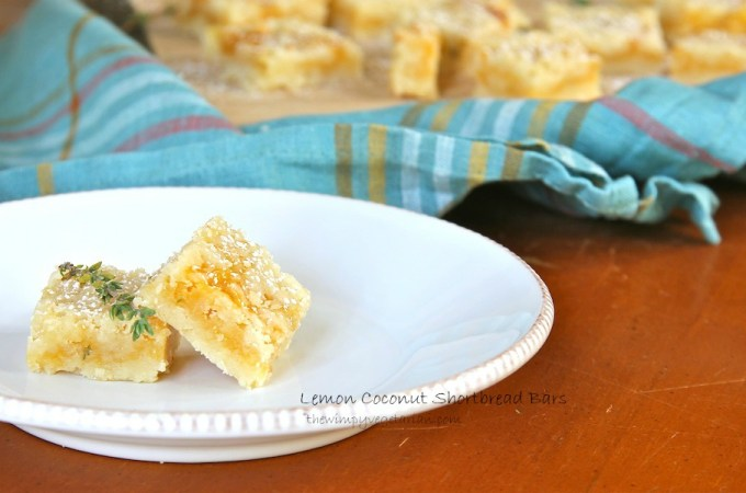 Lemon Coconut Shortbread Bars