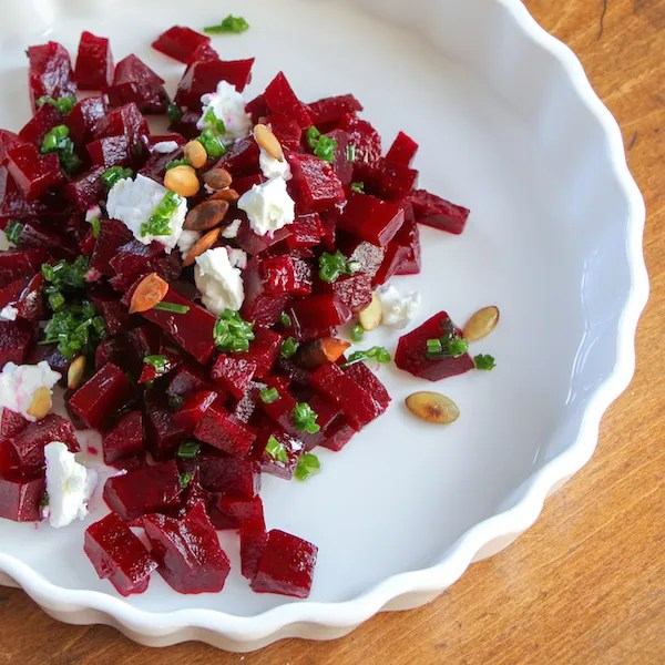Roasted Beet Salad With Pickled Onions And Feta Recipe — Dishmaps