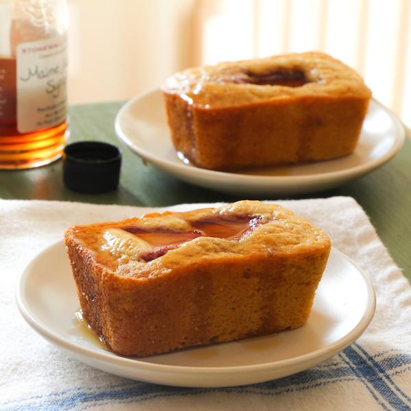 Maple-Strawberry Cornbread Mini Loaves