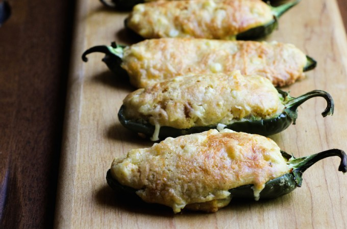 Jalapeños filled with cornbread appetizer
