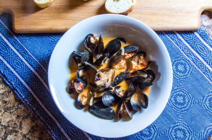 Coconut Curry Mussels | #SundaySupper