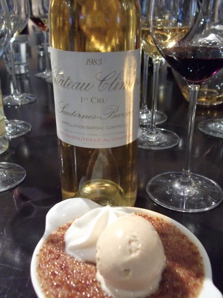 Ch. Climens 1983 with dessert
