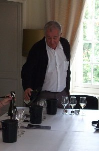 Jean Herve pouring at the winery